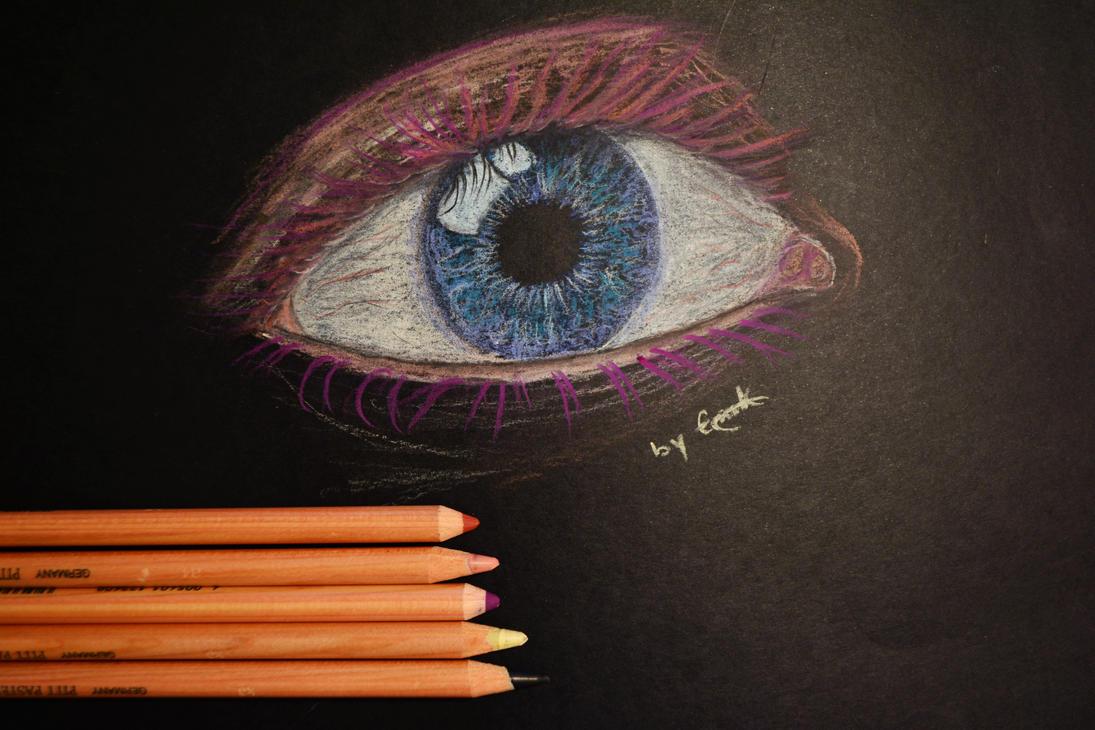 Pink-Eyelashed Eye by Deep-Larks