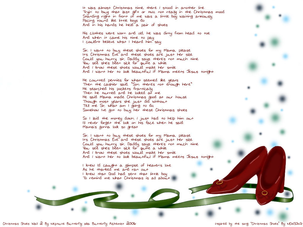 Christmas Shoes Lyrics.New Shoes Lyrics Christmas Song