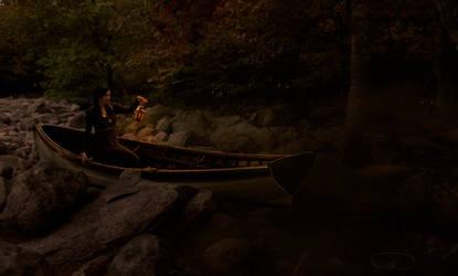 Lady in boat