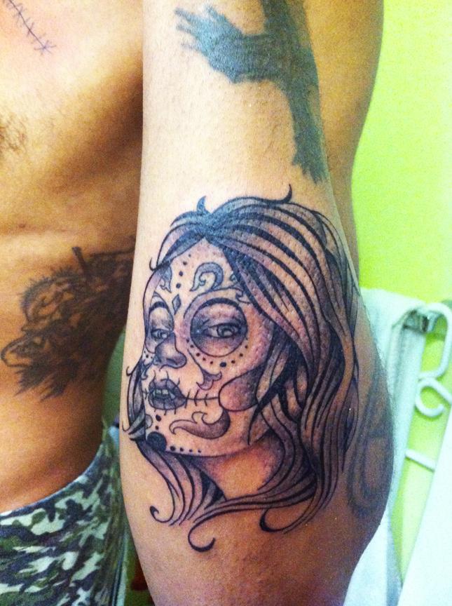 Sugar skull tattoos for girls beautiful tattoos art for Female skull tattoos