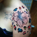 Lily Flower and Cheetah Prints Tattoo