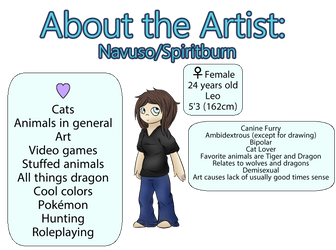 About the Artist by Spiritburn