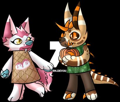 Raspberry Icecream and Pumpkin Guardian