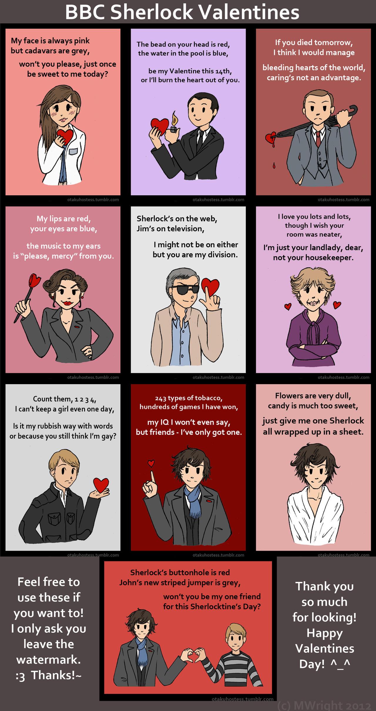 BBC Sherlock Valentines by munworks