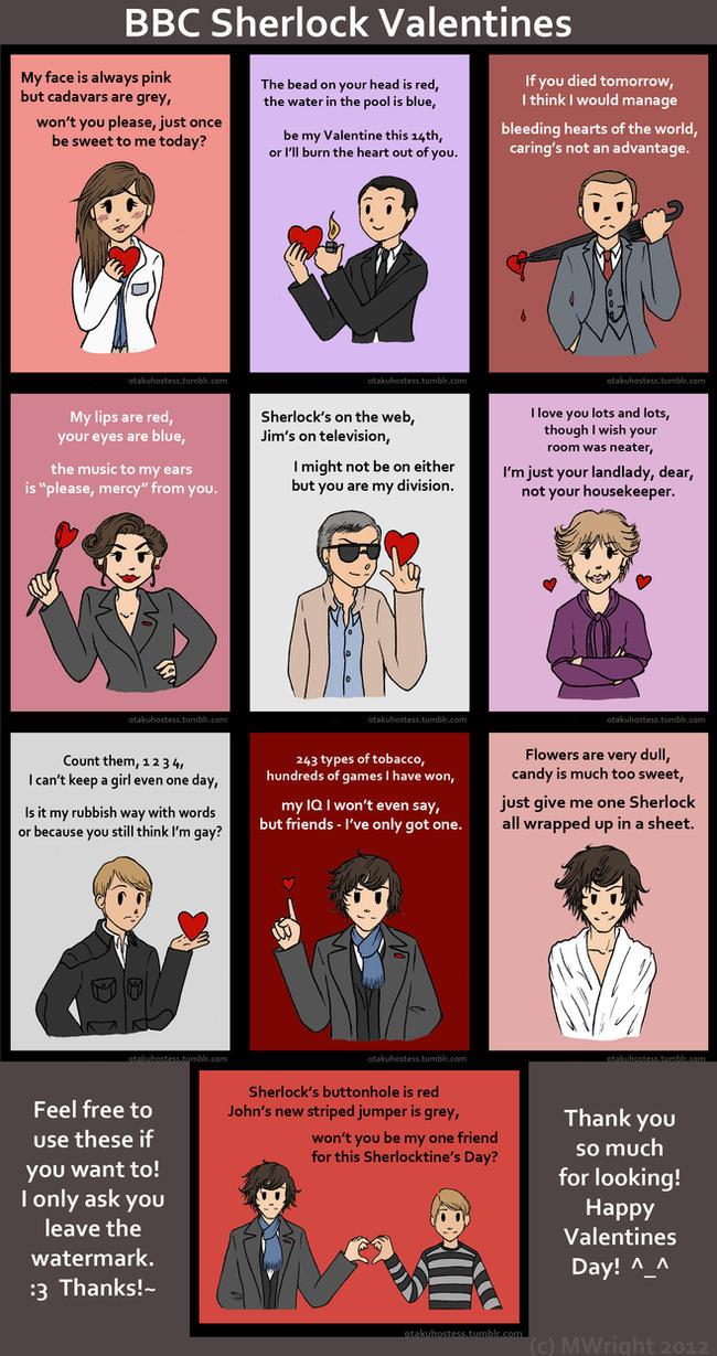 BBC Sherlock Valentines By Munworks ...