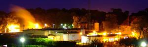 panoramic facility at night