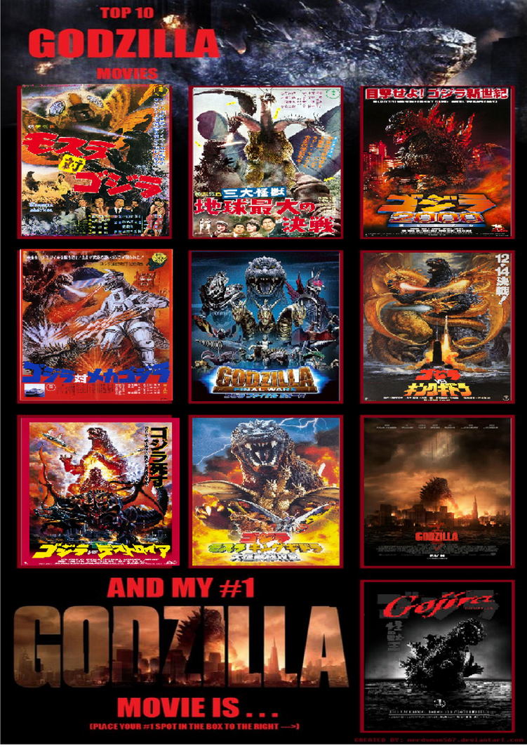 My Top 10 Godzilla films by JaketheDino