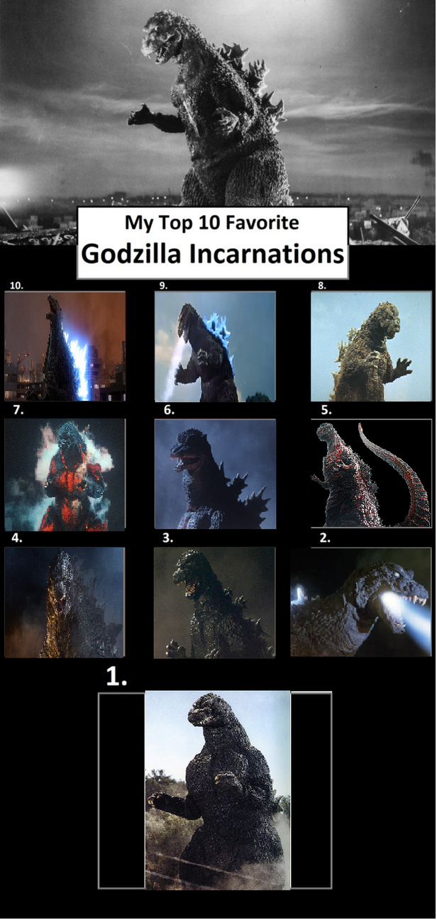 Godzilla Incarnations by JaketheDino