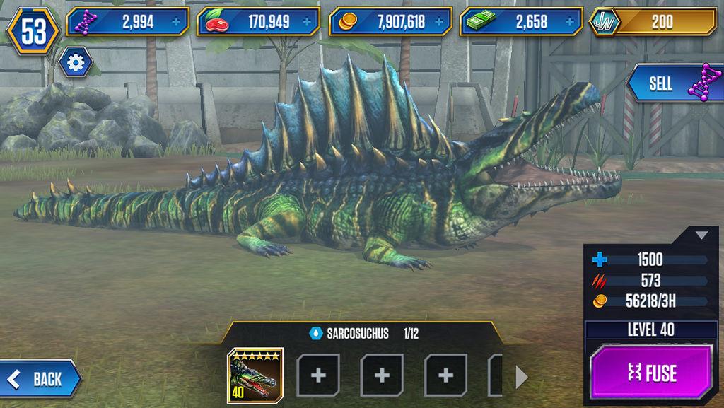 Level 40 Sarcosuchus By Jw Gojifan On Deviantart