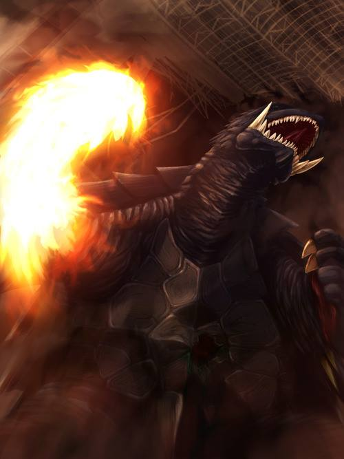 Gamera Fire Punch by JW-Gojifan