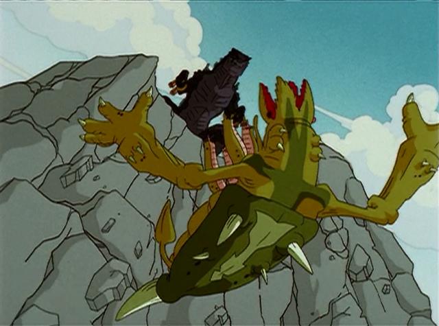 C rex falling by JW-Gojifan