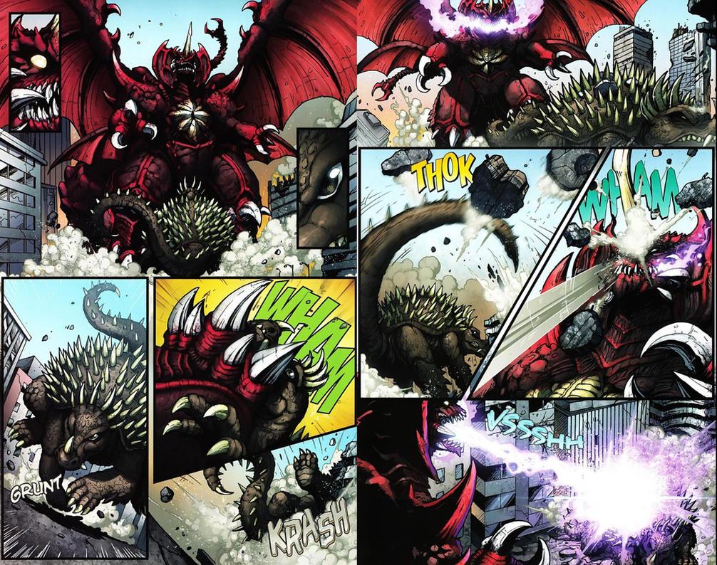 Anguirus vs Destoroyah by JW-Gojifan
