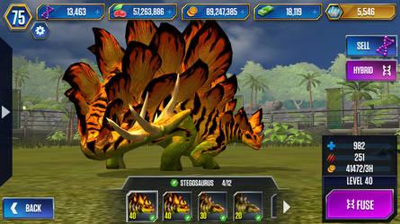 Level 40 Stegosaurus by JW-Gojifan