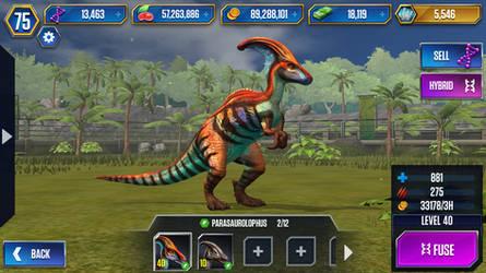 Level 40 Parasaurolophus by JW-Gojifan