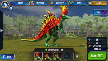 Level 40 Corythosaurus by JW-Gojifan
