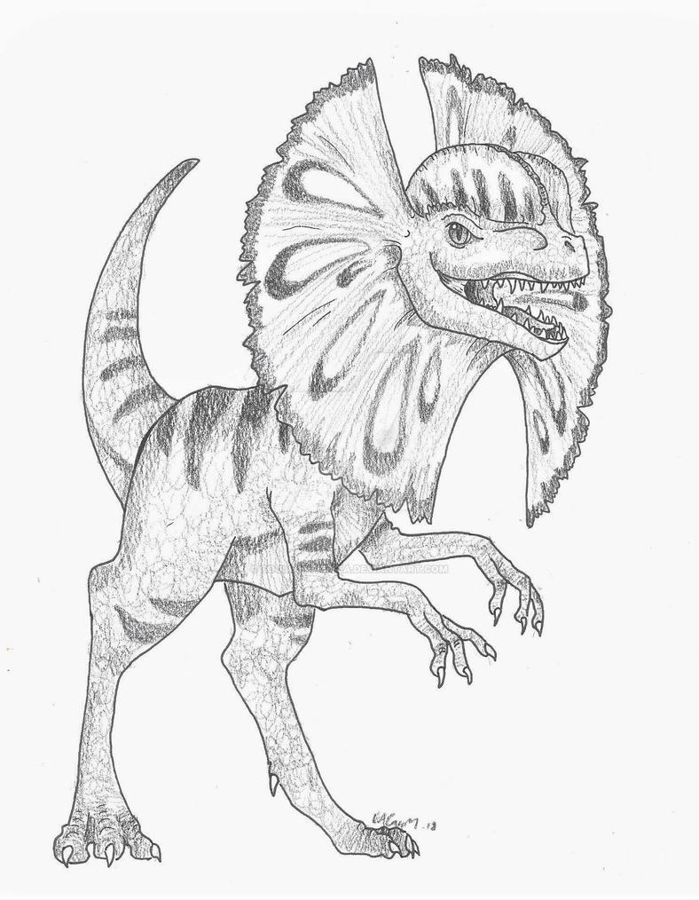 Dilophosaurus by SoulLostAtSea