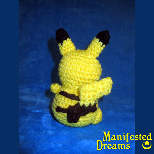 Schema Pikachu Amigurumi : Pikachu Amigurumi - back view by ManifestedDreams on ...