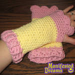 Fluttershy inspired arm warmers