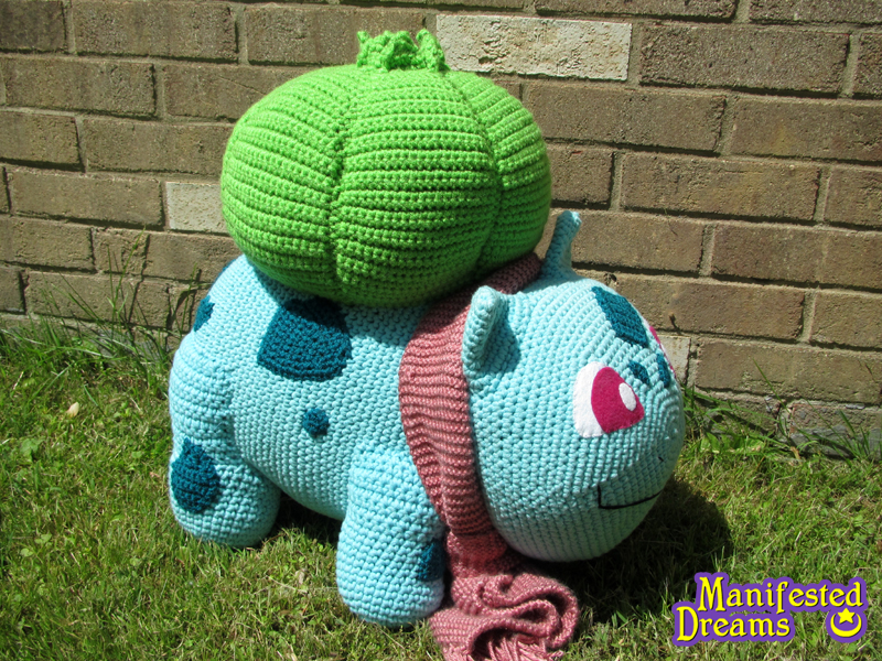Bulbasaur Amigurumi - Super Big! Side shot by ...