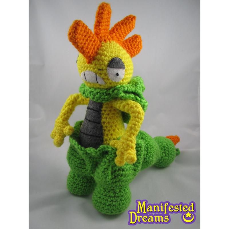 Shiny Scrafty crocheted amigurumi plush by ManifestedDreams