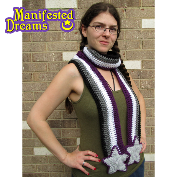 Asexual Pride Scarf by ManifestedDreams