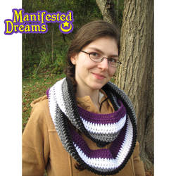 Asexual Pride Infinity Scarf