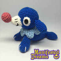 Popplio amigurumi by ManifestedDreams