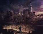 A Collapsed Desert Castle - Sketch