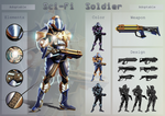 Sci-Fi Soldier - Adoptable by ArtByGhost