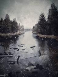 Winter Landscape - Color Study by ArtByGhost