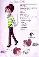 Erina ref sheet - Human by Drayna