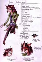 Erina ref sheet - Anthro by Drayna