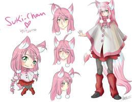 Suki - chan pink version by Awskitee