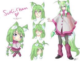 Suki - chan green version by Awskitee