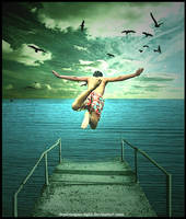 flying then go drown by depictingmysight