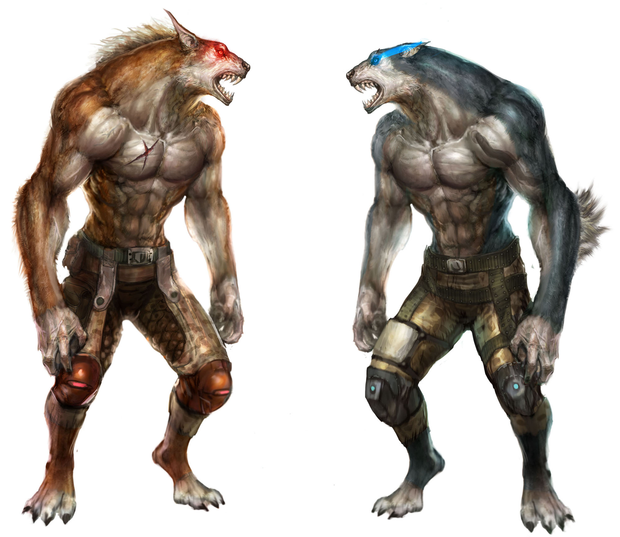 Wolfteam Website Artwork Werewolves Red vs Blue by ...
