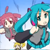 Vocaloid Triple Baka Neru, Miku and Teto Icon 01
