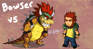 Bowser vs Bowser by KaywonnJuto
