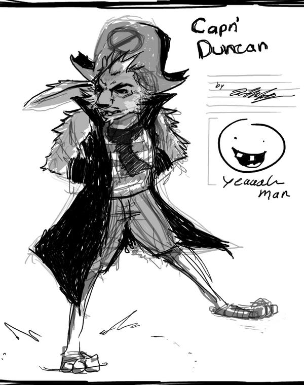 Capn' Duncan Sketch by KaywonnJuto