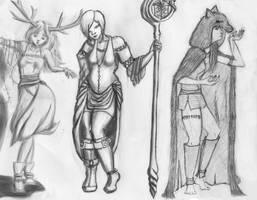 A Fairy, a Sorceress and a Hag