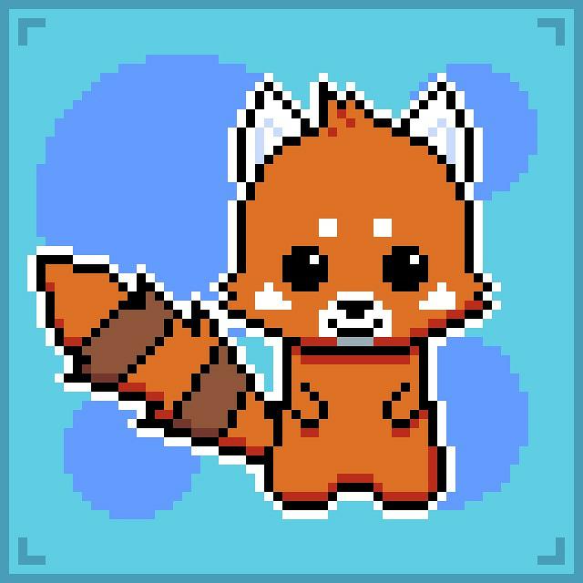 Red Panda Pixel Art By Banjomandudeguy On Deviantart