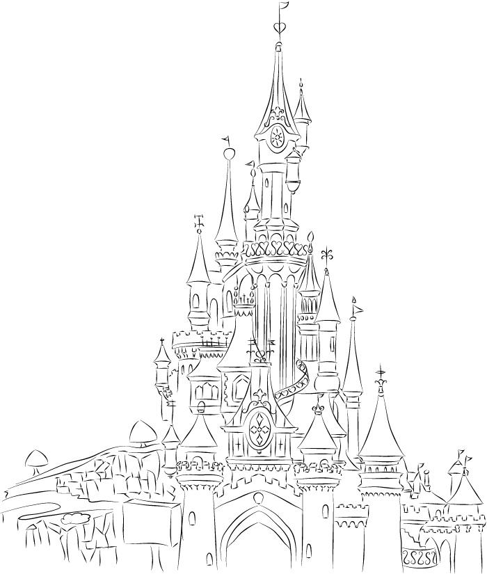 Disney Castle Drawings...