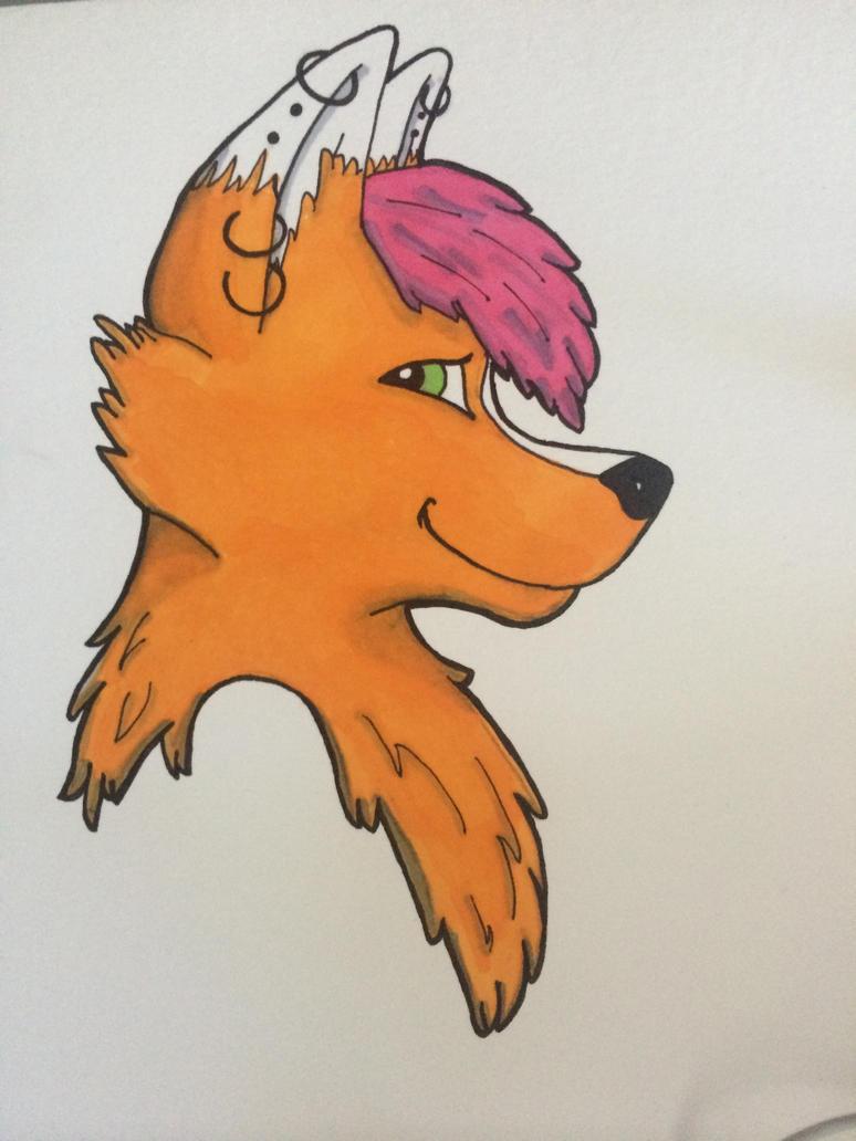 NeeNee to be a badge Drawing by NeeNeeFox