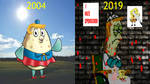Spongebob: Mrs. Puff, Than And Now by Evanh123