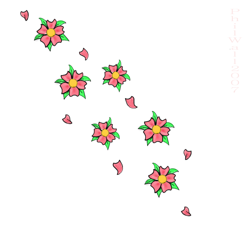 Cherry blossom tattoo flash - flower tattoo
