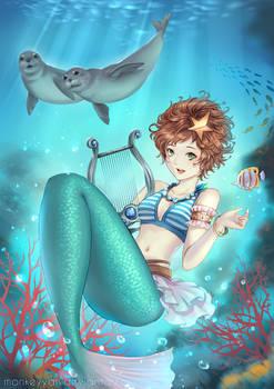 Musician in the Sea