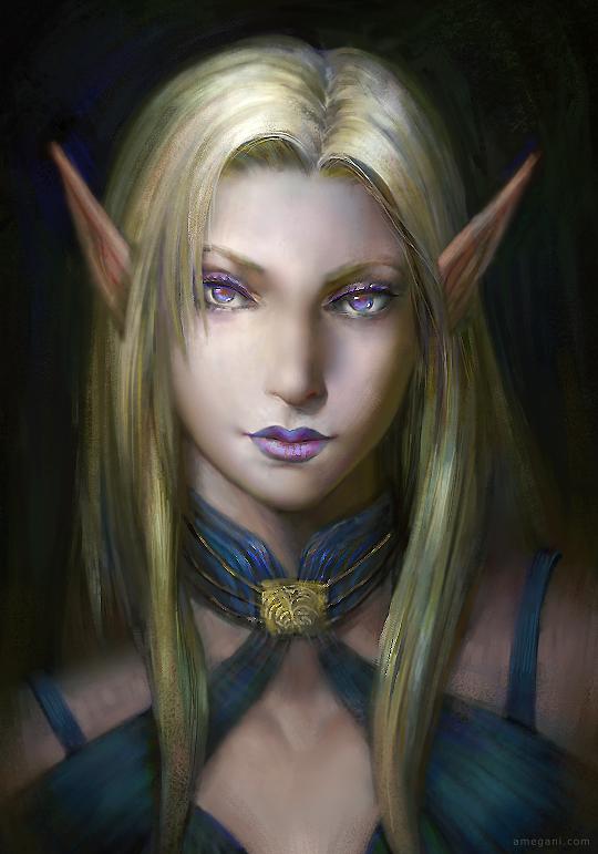 Pillars of Eternity - Female Elf Portrait by amegani