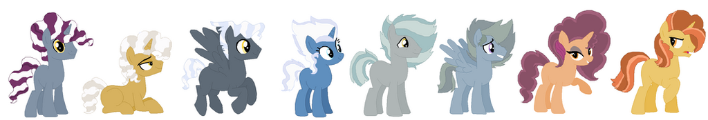 Breed chart adopts for {triple-biscuit} by PurplePonys4Life