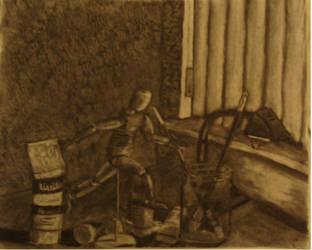 A Student's Desk by spencerclark