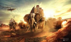 The Battle of the Titans Elephants